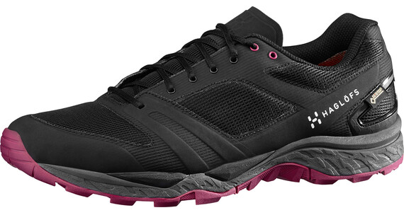 Haglöfs W's Gram Gravel GT Shoes TRUE BLACK/VOLCANIC PINK